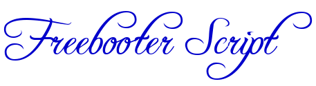 Freebooter Script шрифт